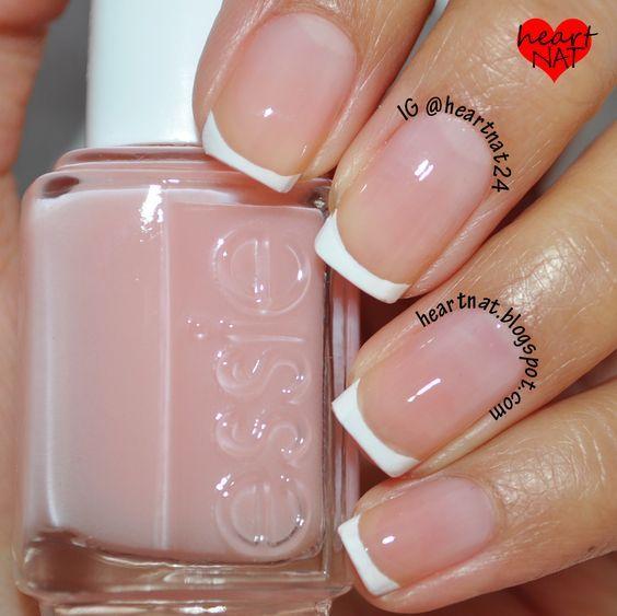 Essie Sugar Daddy & Konad M19 French Mani (wish my nail beds were this clear)