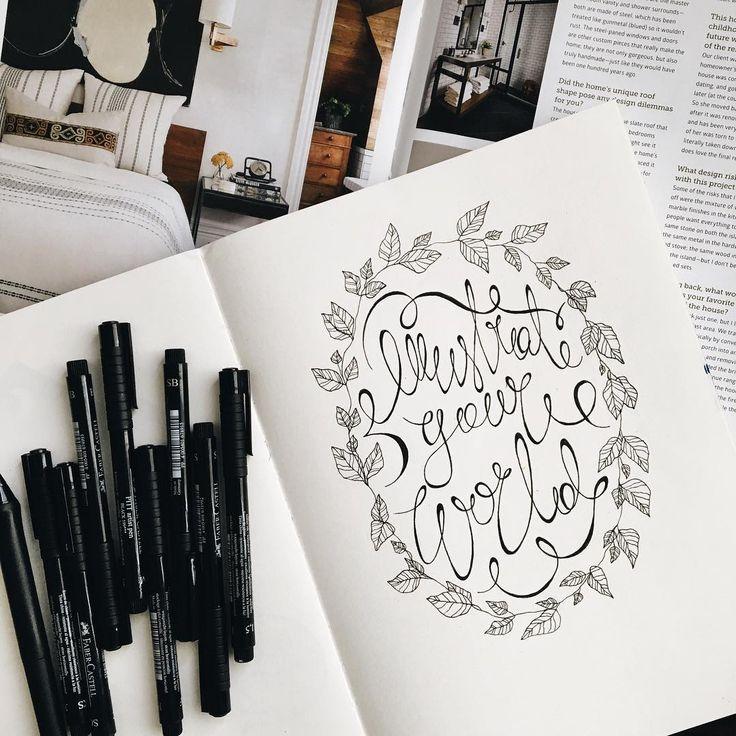 Good morning, America 🌎 Доброе утро, Америка 🇺🇸 Решила рисовать на бумаге каждый день. 🎨 Планшет — совсем другое дело. Ограничивает во многом 💻 #IllustrationOfTheDay #IllustrateYourWorld #LetteringArtist #trvlblog