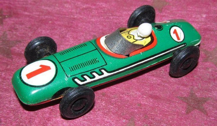 kleiner Rennwagen Blechauto DDR
