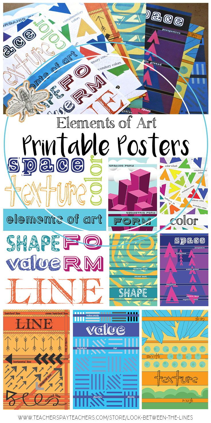 photo relating to Printable Poster Board named Aspects of Artwork Poster Packet: 8 Ground breaking Posters for your