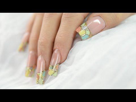 Foil para decoración de uñas / Paso a paso - YouTube