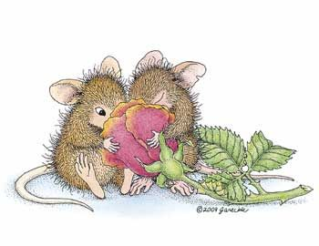 """""""Fragrant Friendship"""" from House-Mouse Designs®. Click on the image to see it on a bunch of really """"Mice"""" products."""