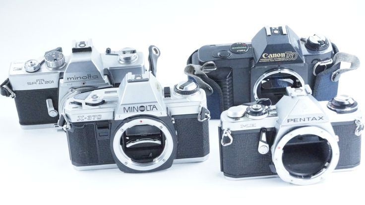 Vintage 4 Camera BUNDLE Collection: Minolta, Pentax & Canon Body Only by VinVentures on Etsy