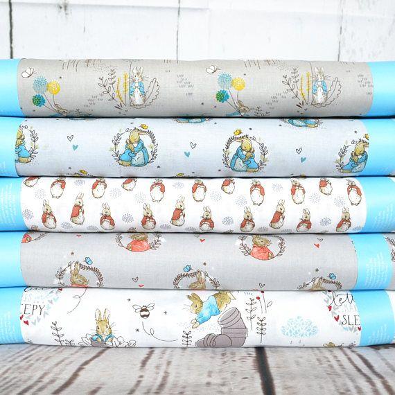 Peter Rabbit Fabric Beatrix Potter fabric Peter Rabbit