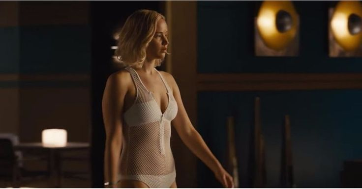 We Need to Talk About That Hot Mesh Swimsuit Jennifer Lawrence Wears in Passengers
