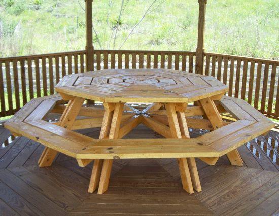 25+ unique octagon picnic table ideas on pinterest | octagon