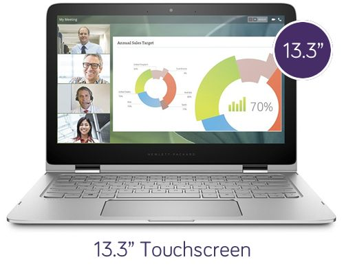 HP Spectre Pro x360 – 13.3″ Touchscreen, 2.2GHz Processor