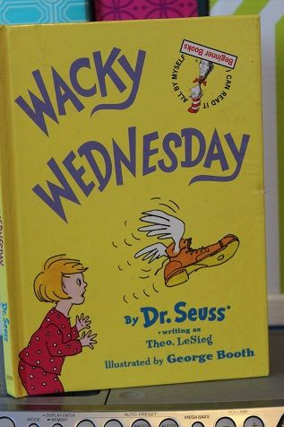 Ideas to go along with the book Wacky Wednesday by Dr Seuss