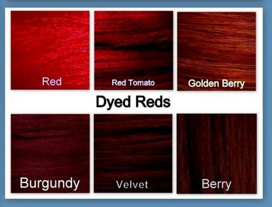 25 Best Ideas about Dark Red Hair – Sample Hair Color Chart