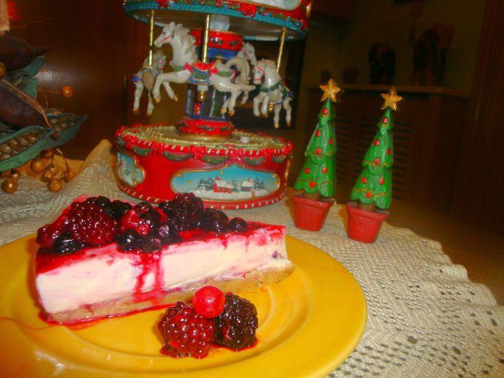 Está el horno para bollos: Tarta de queso y frutos rojos