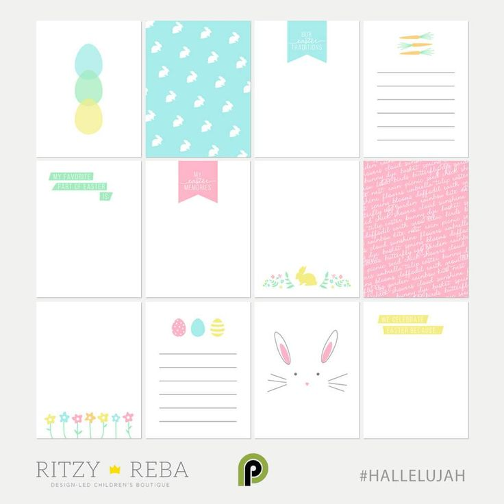 Free journaling cards to any pocket style memory keeping system to document your families Easter story. #HALLELUJAH