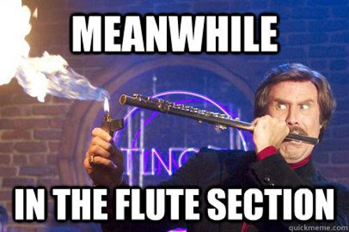 It's funny cause it's true. We flute players are hardcore.