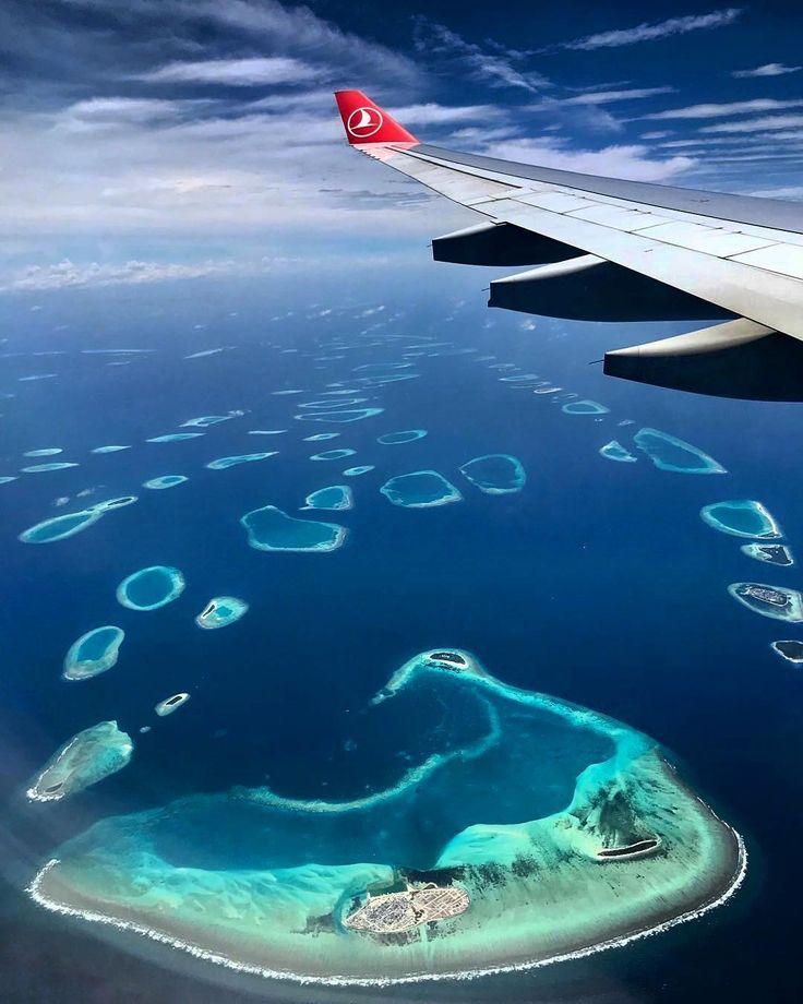 фото с самолета острова