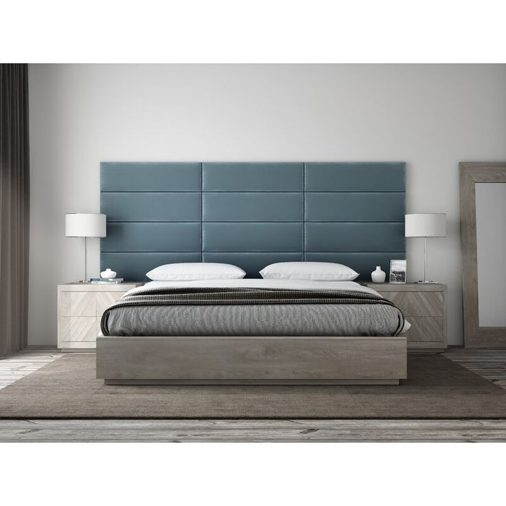 Upholstered Panel Headboard, Metal Bed Frame Queen Size With Vintage Headboard And Footboard Platform Base Wr