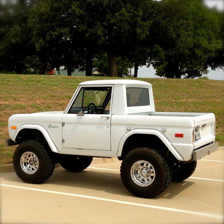 Bronco, So awesome... I need this. What I will do is put a stainless steel frame on this and drop a desil engine in it and it will be my baby!!!