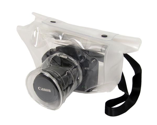 Transparent Waterproof Digital SLR Camera Case..I want it!!