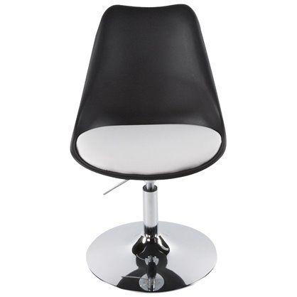 Fotel VICTORIA czarno-biały