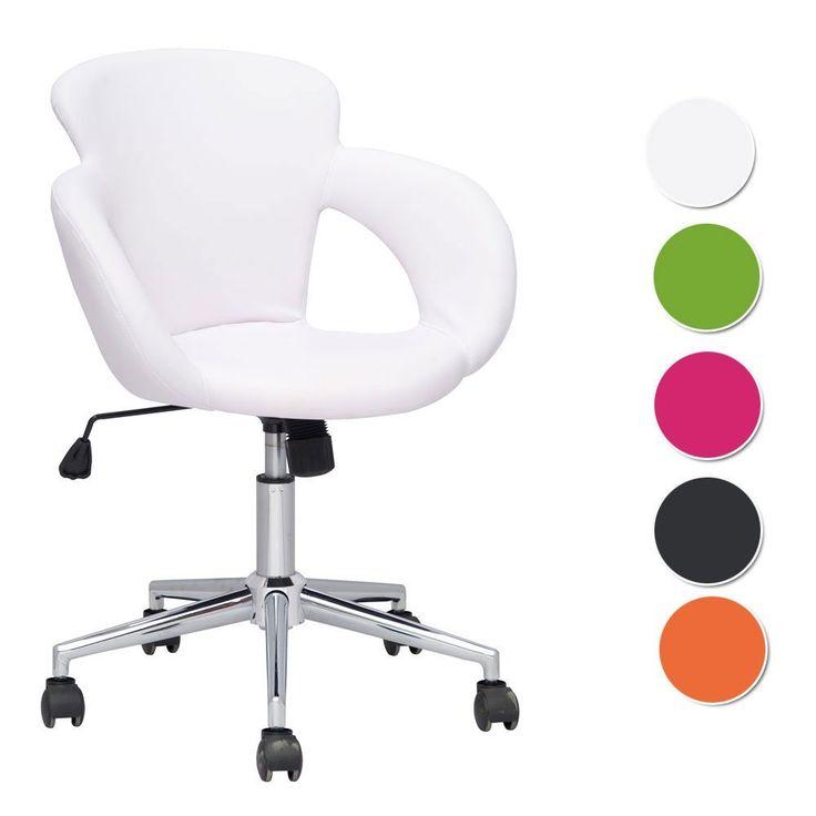 SixBros. Design sgabello girevole da lavoro sedia da ufficio bianco - M-65335-1/725: EURO 60,90