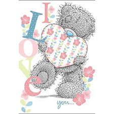 I Love You Me to You Bear Card