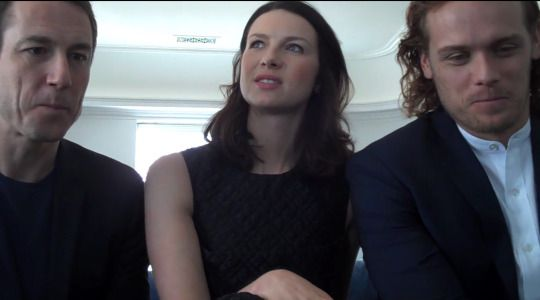 Cait starts to answer the 'intimate' question … Sam's face …