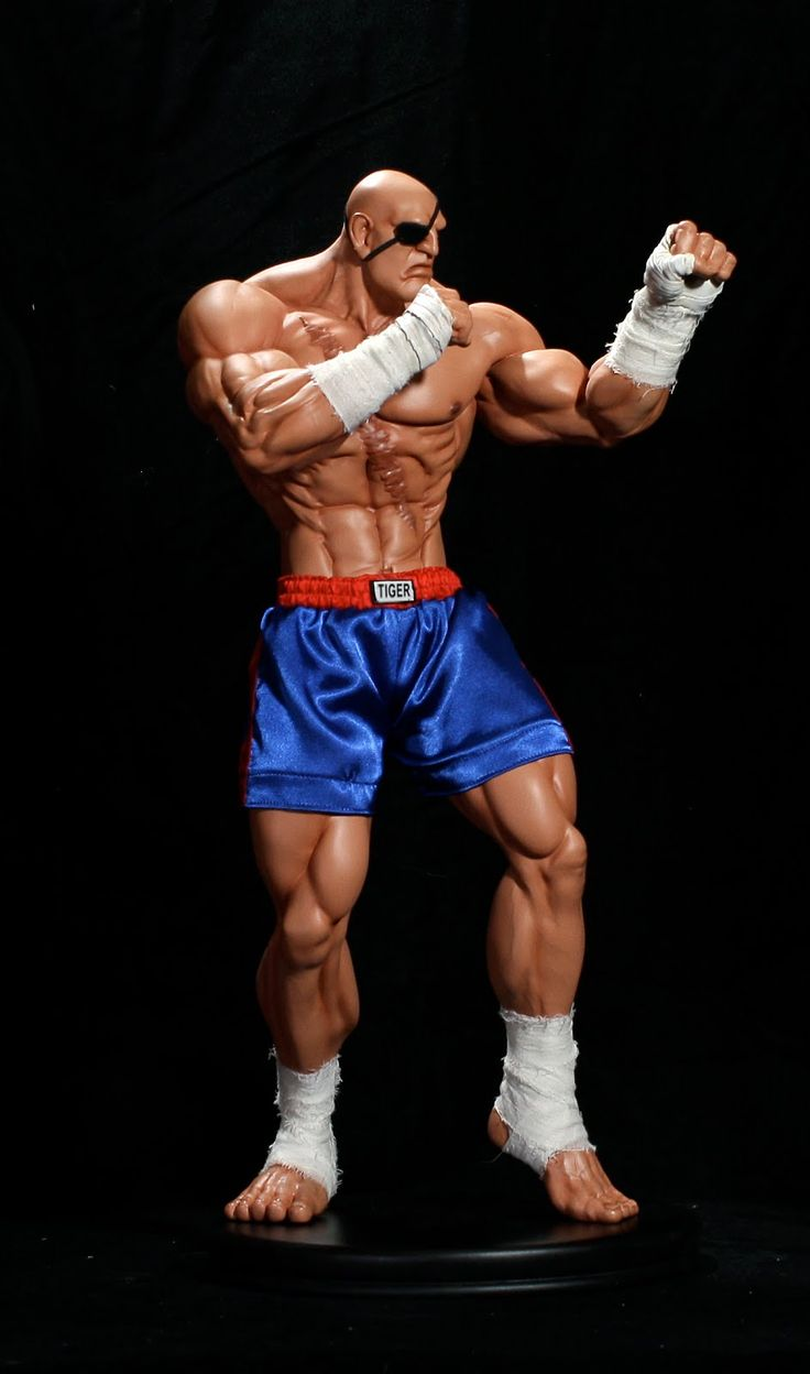 Sagat Street Fighter sculpt   21 Inch Sagat Joins the Street Fighter Statue Army