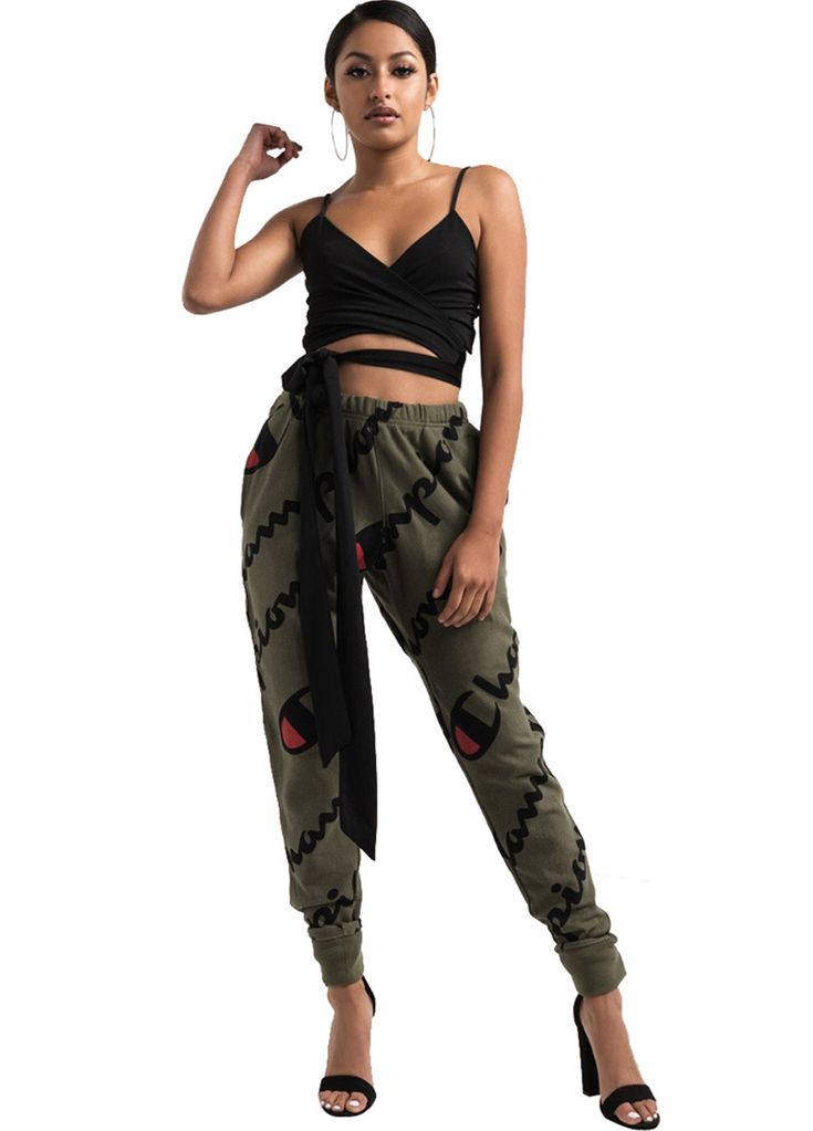 CHAMPION Mid Rise Casual Jogger Pant_Women Leggings_Women Clothes_Sexy Lingeire | Cheap Plus Size Lingerie At Wholesale Price | Feelovely.com