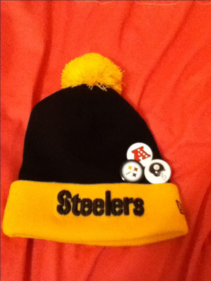 Steelers hat I love it so much!!!!!