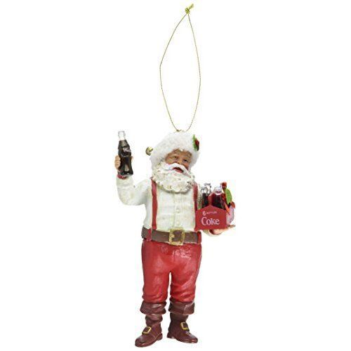 Christmas-Decoration-Santa-Holding-Coca-Cola-Ornament-PVC-5-Inch-6-Pack
