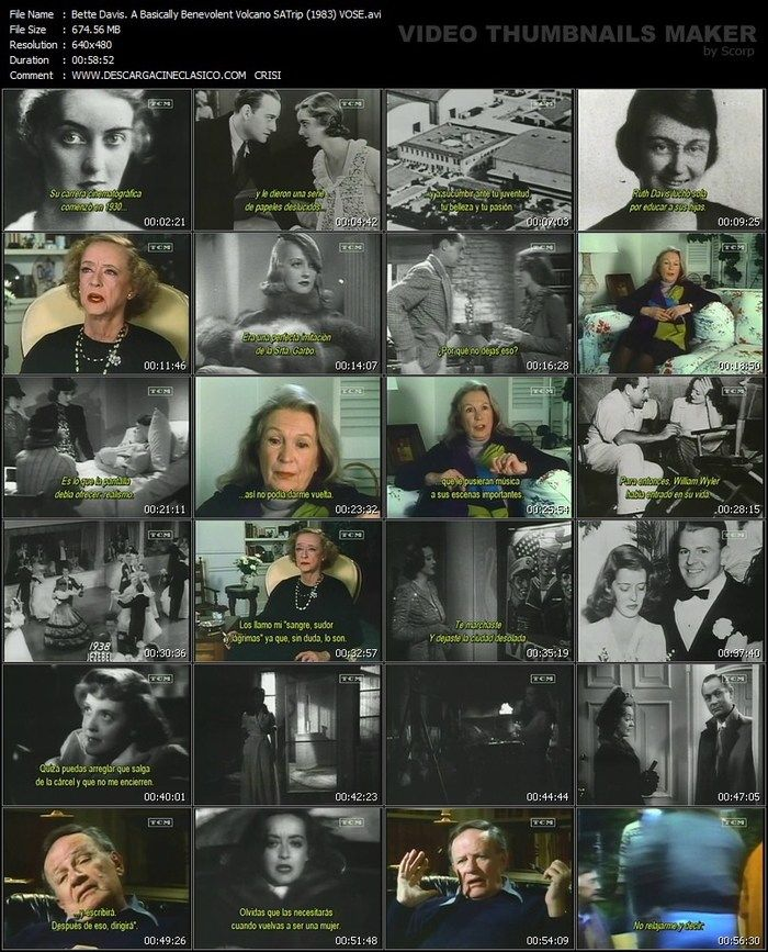 Documental, captura  BETTE DAVIS: A BASICALLY BENEVOLENT VOLCANO (1983)