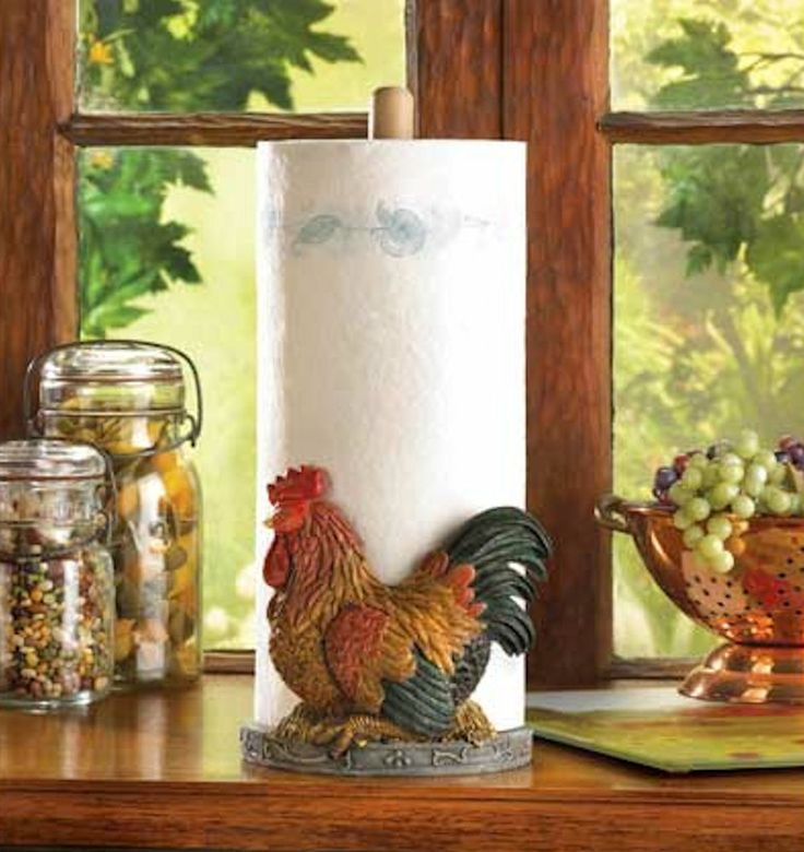 Nice COUNTRY ROOSTER PAPER TOWEL HOLDER Kitchen Countertop Decor