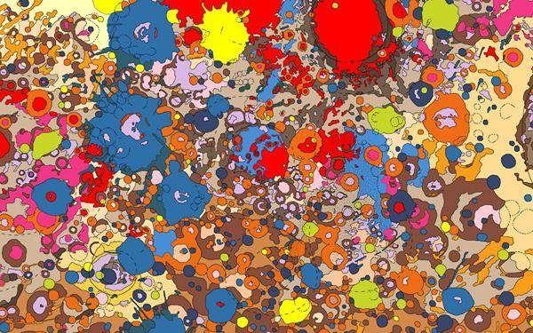 Ceci n'est pas une peinture abstraite, mais une carte géologique colorée. - SCMB Images
