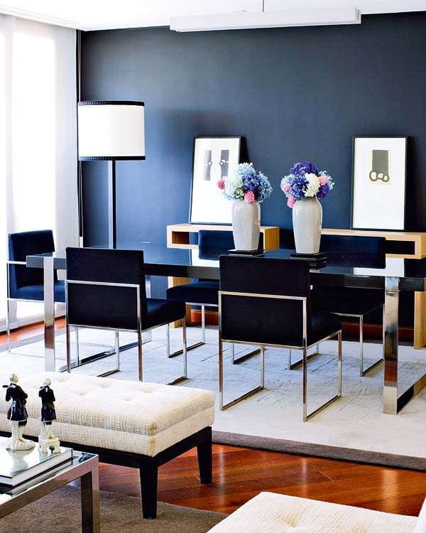 All Blue Dining Room Chairs Navy Velvet