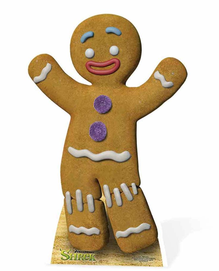 Gingy the Gingerbread Man from Shrek Cardboard Cutout/Stand Up/Standee - Great for Parties! This standee is the perfect focus point of any themed party or a gift sure to delight the most avid fan. All cutouts are designed to be self supporting and are assembled within seconds. | eBay!
