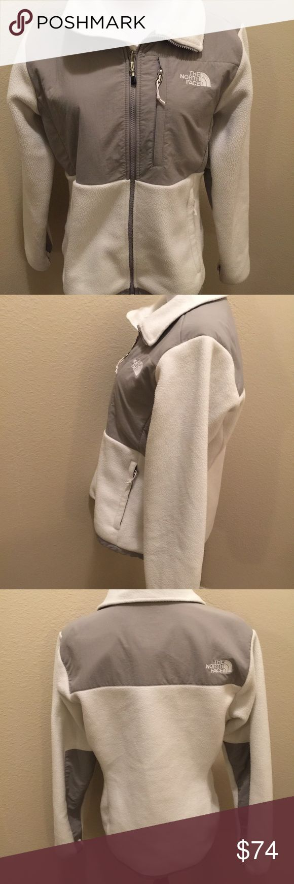 North Face Denali white/gray M Lovely good condition white north Face  Denali women's M North Face Jackets & Coats