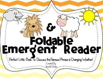 Lion & Lamb Foldable Emergent Reader ~Color & B&W~ CC Aligned! | by Jennifer Drake