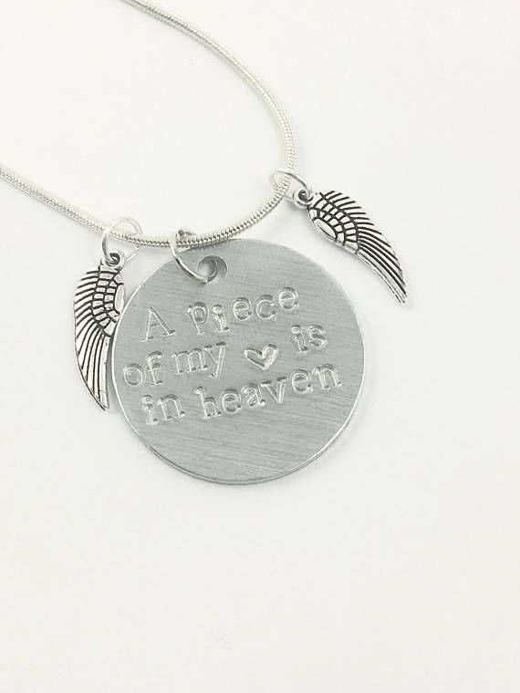A piece of my heart is in heaven / My guardian angel necklace