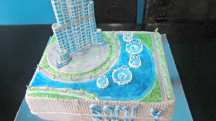 Burj khalifa Dubai Cake - tallest building in the world tower cake