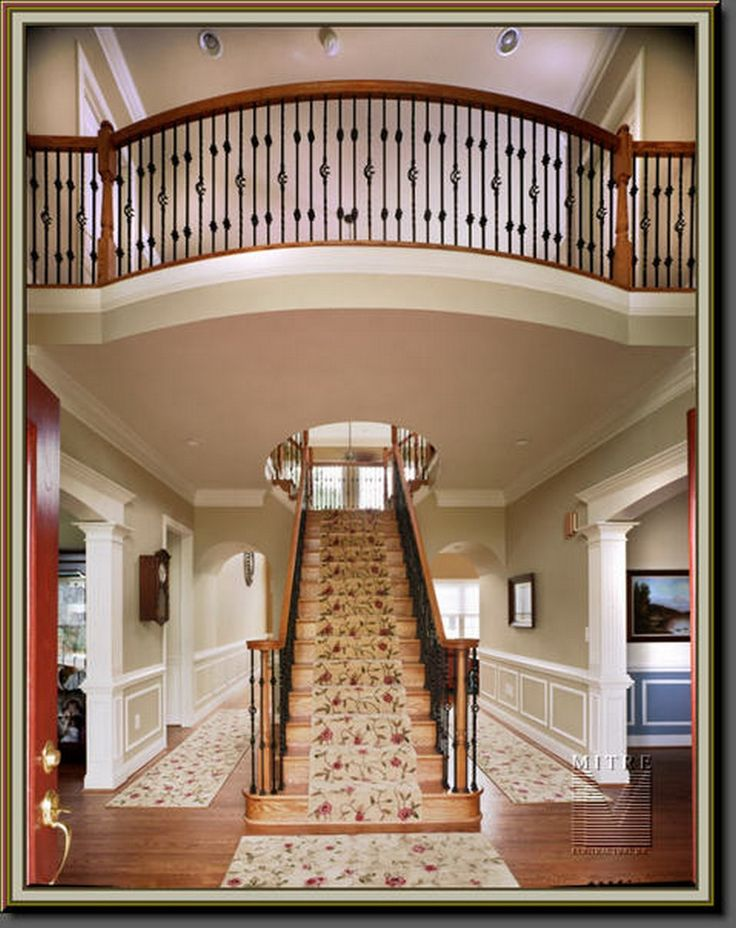 Modern Traditional Foyer : Best ideas about traditional staircase on pinterest