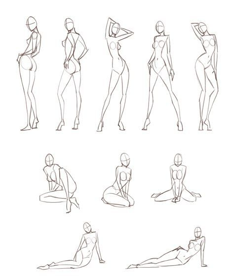 Feminine poses, copying these for fashion sketches is really effective