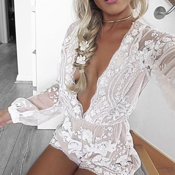 the look: dreamy lace romper
