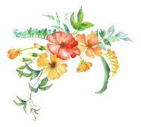 Lenagold - Клипарт - Оранжевые цветы 9