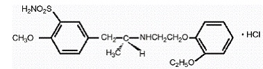 Flomax® (tamsulosin hydrochloride) Structural Formula Illustration