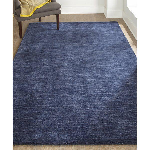 Larissa Handmade Tufted Wool Dark Blue Area Rug Dark Blue Rug Blue Area Rugs Rugs