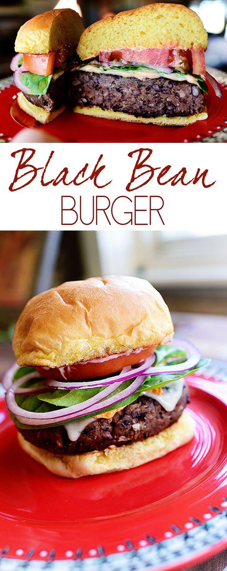 Black Bean Burger Recipe | Grilling & BBQ | Summer Cookout | healthy recipe ideas @xhealthyrecipex |