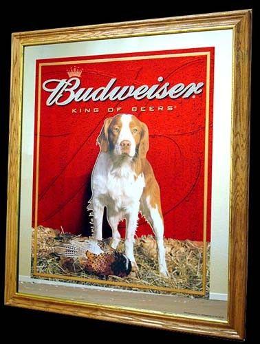 Large Budweiser Mirror Budweiser Hunting Series Old Dog