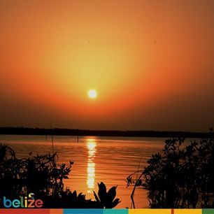 Beautiful sunset off the Bay. #discoverBelize #Corozal