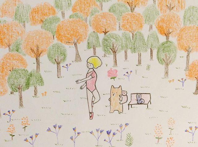 Dancing in the park #onependrawing #pen #pencil #pencilart #pencilwork #penandpaper #illustration #illustrator #illustagram #art #artist #artwork #artoftheday #character #colors #coloredpencil #cool #coolkids #paper #papergoods #ballet #dancing #dance #park #parklife #drawoftheday #thinkpositive #thinkdifferent #postcard #postcardgram