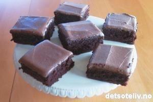 Sjokoladekake med kefir (veldig saftig!)