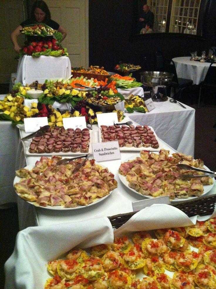 Californos Heavy Hors D Oeuvres Buffet Wedding Reception