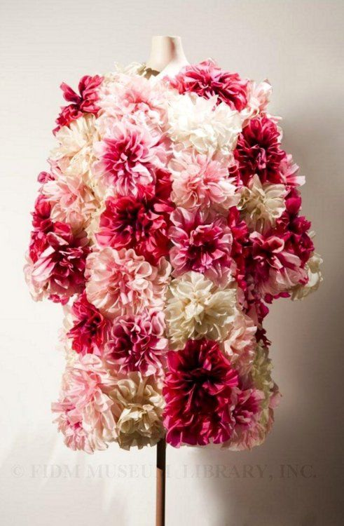 Vintage 1963 Marc Bohan for Christian Dior Flower Dress... Might just be the ugliest dress I've ever seen...